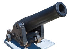 Old ship cannon on a white background Stock Image
