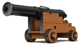 The old ship cannon Royalty Free Stock Images
