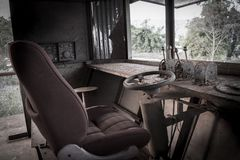 Old ship driver room. With alot of dust Royalty Free Stock Photography