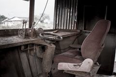 Old ship driver room vintage. Old ship driver room with alot of dust Royalty Free Stock Photo