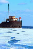 Old Ship Frozen Lake Ontario Stock Photo