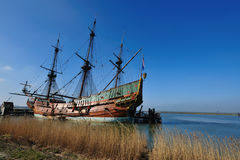 Old ship in the harbor. The Netherlands Stock Photo