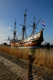 Old ship in the harbor Stock Photography