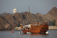 Old ship in the harbor of Muscat Royalty Free Stock Image