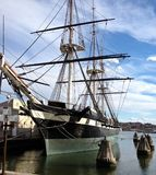 Old Ship in Harbor stock photography