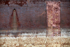 Old ship hull Metal background Royalty Free Stock Images