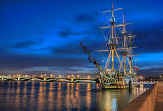 Old ship. St. Petersburg. Stock Photos
