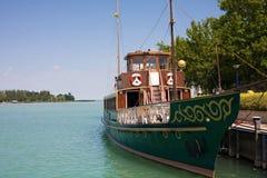 Old ship on lake Balaton. Royalty Free Stock Images