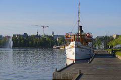 Old ship at the Lappeenranta summer morning. Finland Stock Photography