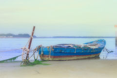 Old ship on line Royalty Free Stock Photo