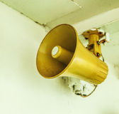 Old ship loudspeaker Stock Photo