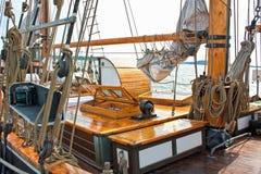 Old ship at the marina Stock Image