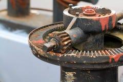 Old ship mechanism stock photos