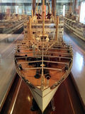 Old ship model in Auckland Maritime Museum royalty free stock photos