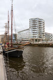 Old Ship And Modern Architecture Hamburg HafenCity Royalty Free Stock Photos