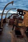 The old ship inshore Baikal Stock Image