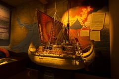 Old Ship at museum in Oslo royalty free stock photo