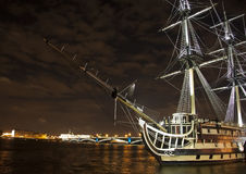 Old ship on the Neva river Stock Images