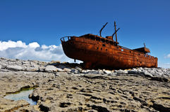 Old ship off the west coast ireland Stock Images