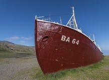 Old ship Patreksfjordur Royalty Free Stock Photos