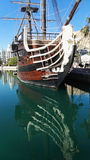Old ship. In port of Alicante, Spain Stock Photos