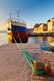 Old ship in the port of Hydra Royalty Free Stock Image