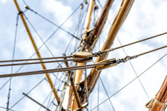 Old ship pulley Royalty Free Stock Images