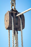 Old ship pulley Royalty Free Stock Photography