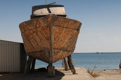 Old ship repair Royalty Free Stock Photo