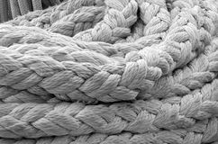 Old ship ropes sack Royalty Free Stock Photo