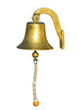 Old ship bell isolated on white background Stock Photography