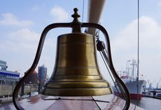 Old ship`s bell Stock Images