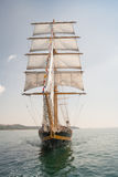 Old ship, sailing in the sea Royalty Free Stock Photography