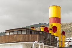 Old ship with a steam engine Royalty Free Stock Photography