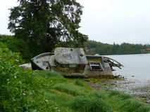 Old ship. Taken near Ucluelet British Columbia royalty free stock photos
