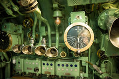 Old Ship Throttle Speed Control and Communication System. Vintage Stock Photography