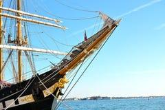 Old ship in Venetian lagoon Royalty Free Stock Photo