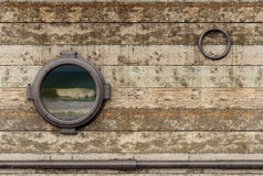 Old ship wall Stock Images