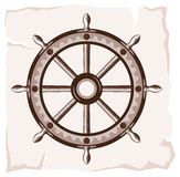 Old ship wheel icon Stock Photos