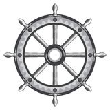 Old ship wheel icon Royalty Free Stock Photography