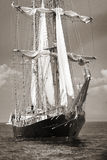 Old ship with white sales Stock Photos