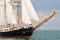 Old ship with white sales Royalty Free Stock Photo