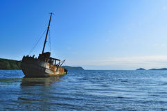 Old Ship Wreck In The Vityaz Bay Of Primorye Royalty Free Stock Photos