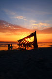 Pirate Ghost Ship Sunset  Stock Photo