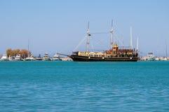 Old ship in Zakynthos port Royalty Free Stock Photo