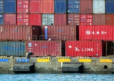 Old Shipping Containers Royalty Free Stock Photography