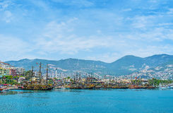 The old ships in Alanya Stock Photo