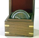 Old ships compass in open box Stock Images