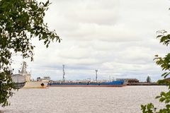 Old ships in harbour in Russia Stock Images