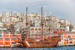 Old Ships in Istanbul, Turkey. Stock Photos